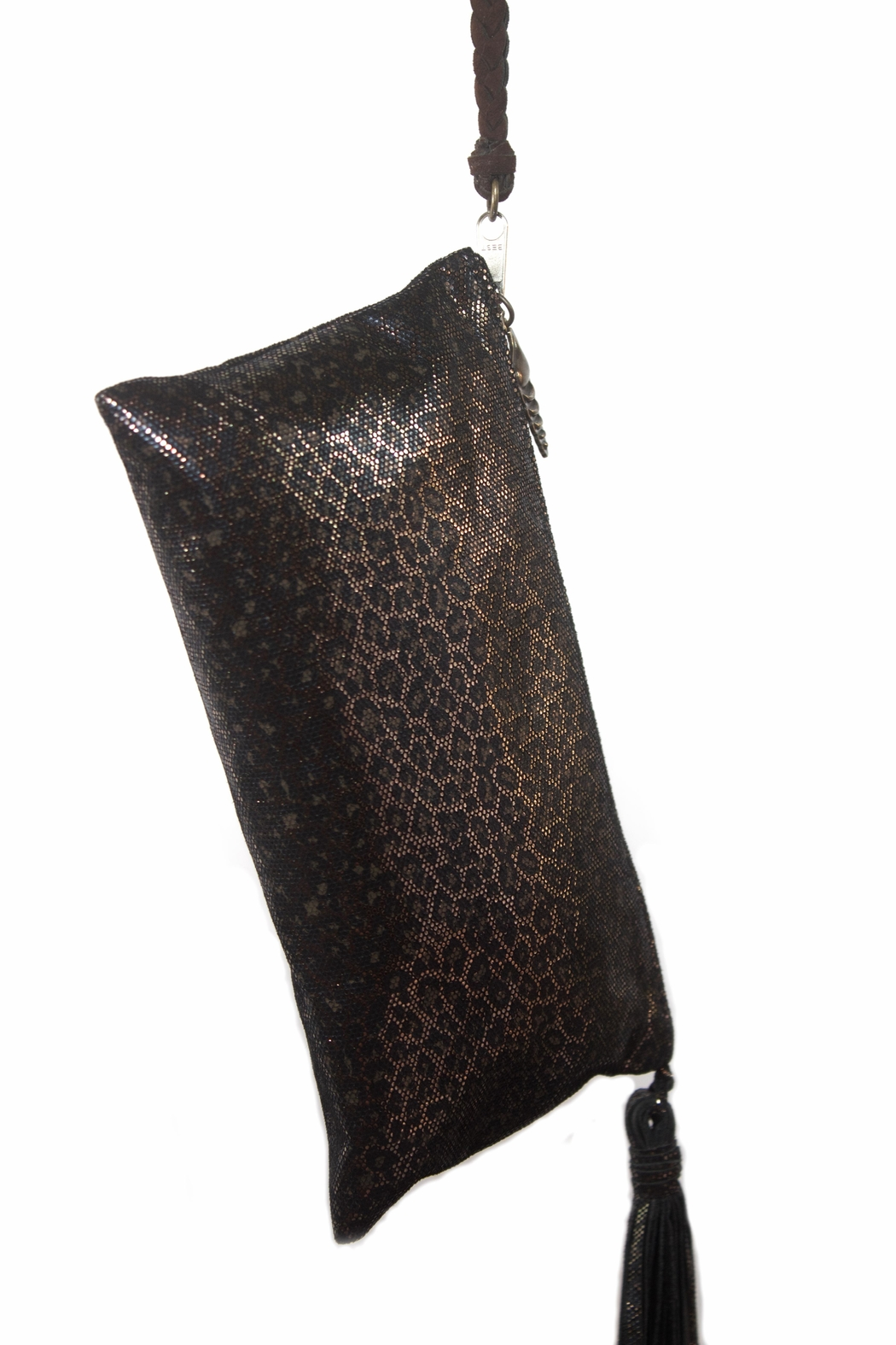 Areias Leather Animal Print Wristlet - Front Full Image