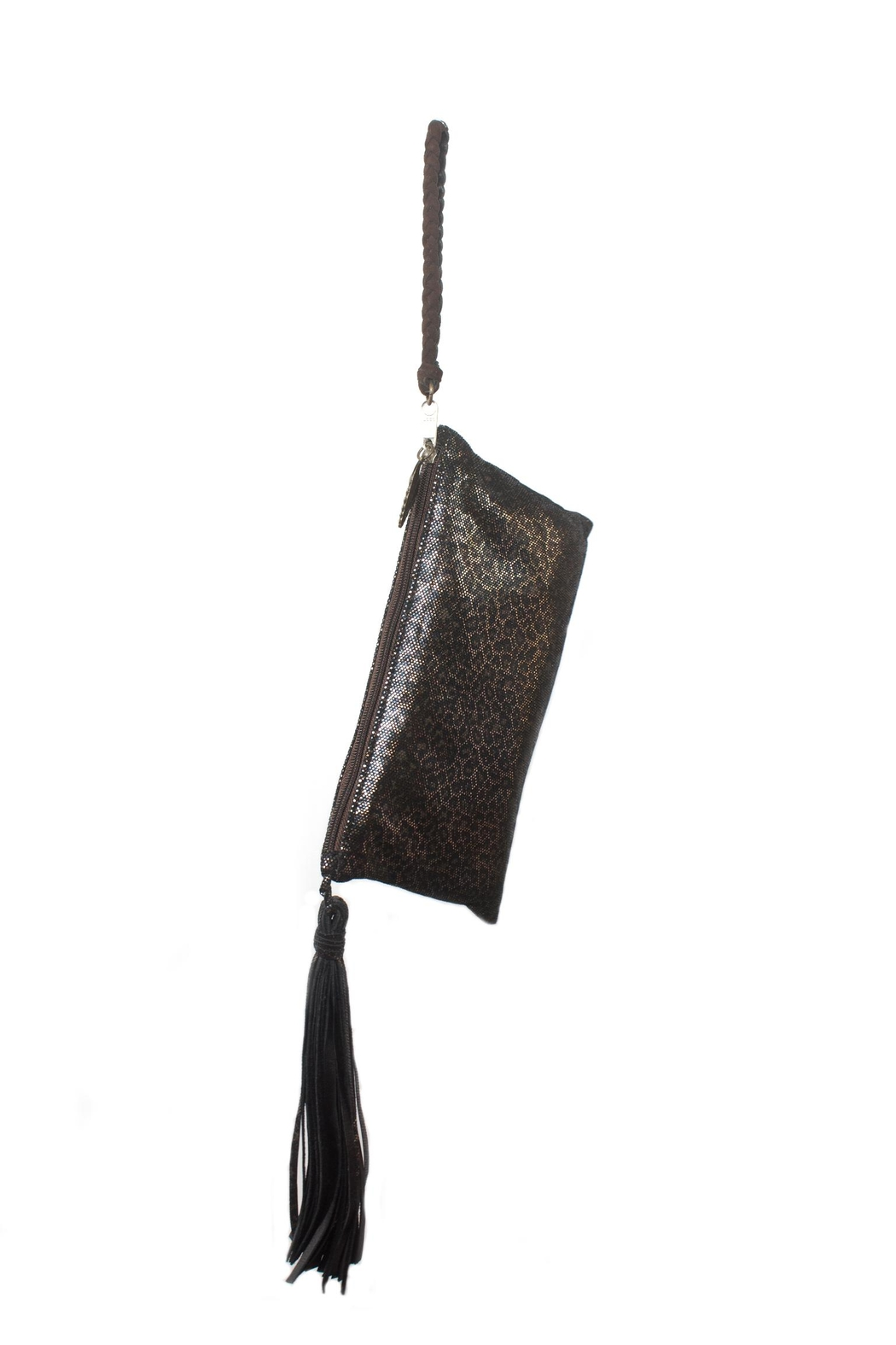 Areias Leather Animal Print Wristlet - Main Image