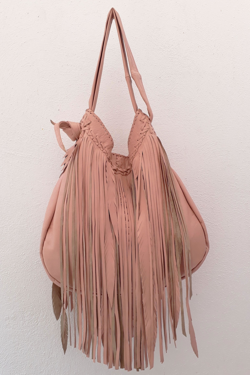Areias Leather Bebe Pink Bag - Side Cropped Image