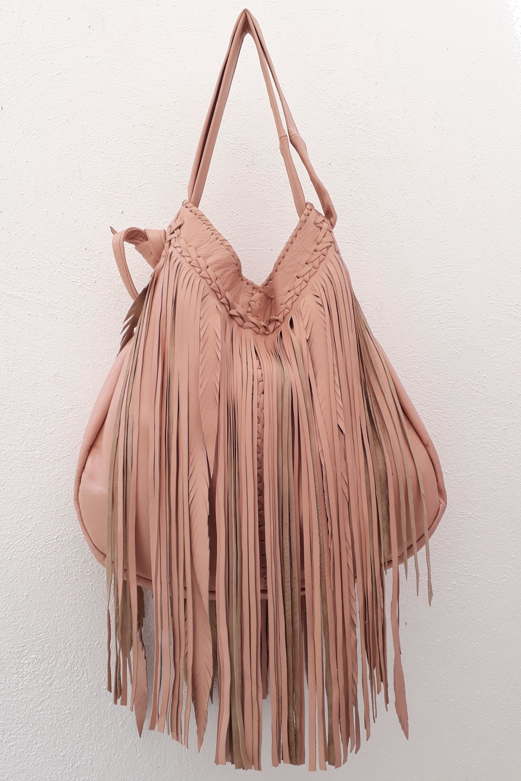 Areias Leather Bebe Pink Bag - Main Image