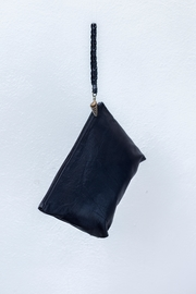 Areias Leather Black Clutch - Front cropped