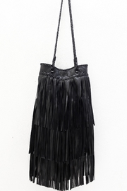 Areias Leather Black Leather Bag - Side cropped