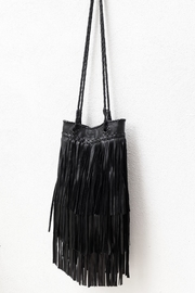 Areias Leather Black Leather Bag - Front full body