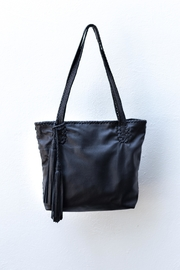 Areias Leather Black Medium Tote-Bag - Product Mini Image