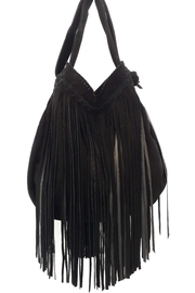 Areias Leather Black Suede Bag - Product Mini Image