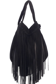 Areias Leather Black Suede Bag - Front full body