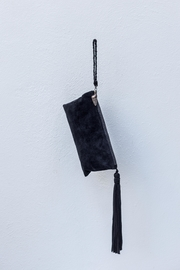 Areias Leather Black Suede Clutch - Product Mini Image