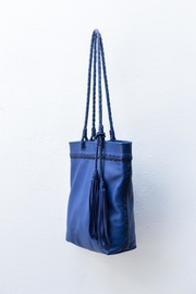 Areias Leather Blue Leather Shoulder-Bag - Side cropped
