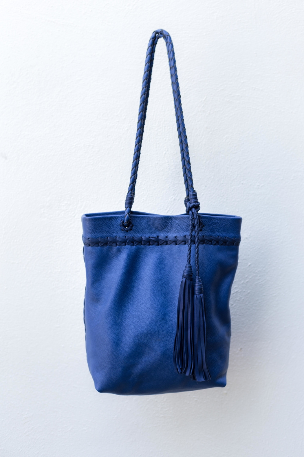 Areias Leather Blue Leather Shoulder-Bag - Main Image