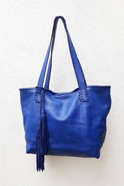 Areias Leather Blue Tote Bag - Product Mini Image