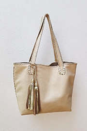 Areias Leather Bone Tote Bag - Product Mini Image