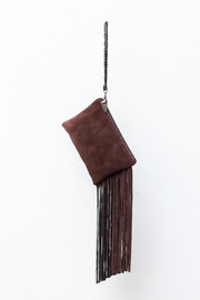 Areias Leather Brown Suede Mini-Clutch - Product Mini Image