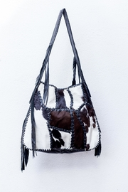 Areias Leather Calf Hair Fringe-Bag - Product Mini Image