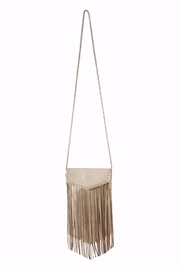 Areias Leather Crossbody Fringe Bag - Product Mini Image
