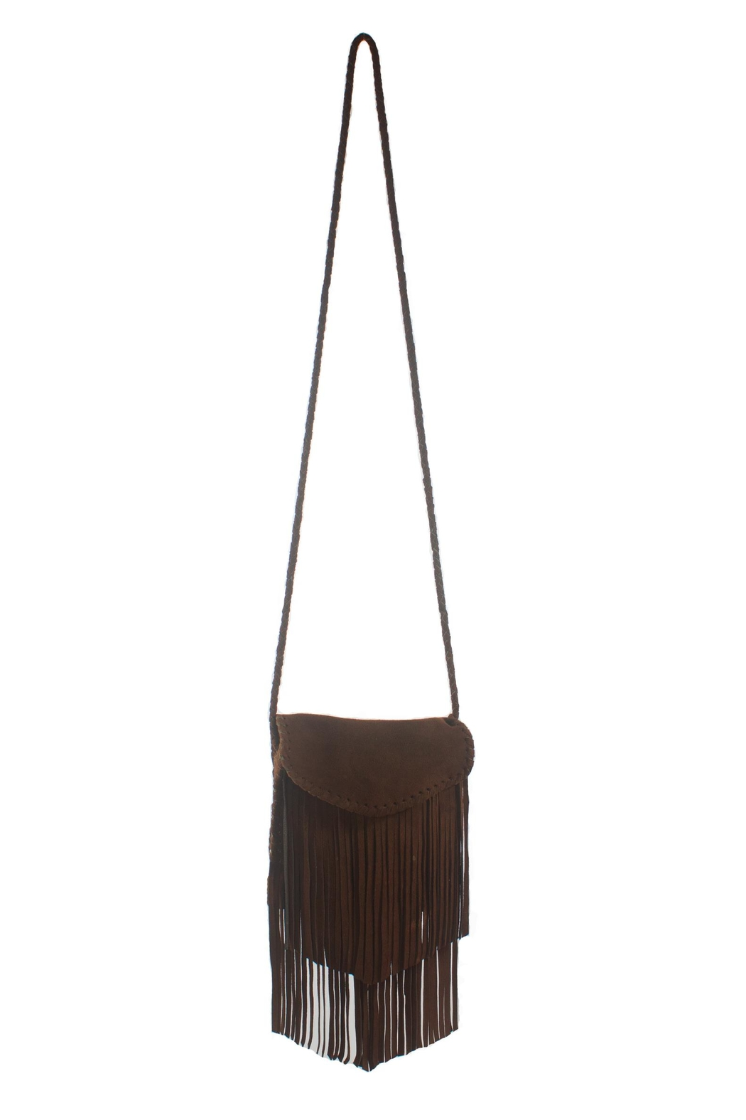 Areias Leather Cross Body Fringe Bag - Front Cropped Image