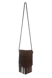 Areias Leather Cross Body Fringe Bag - Product Mini Image