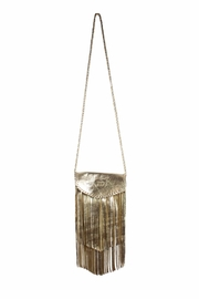 Areias Leather Golden Fringe Bag - Product Mini Image