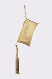 Areias Leather Golden Leather Clutch - Product Mini Image