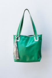 Areias Leather Green Medium Tote-Bag - Product Mini Image