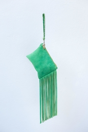 Areias Leather Green Suede Mini-Clutch - Product Mini Image