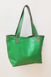Areias Leather Green Tote Bag - Side cropped