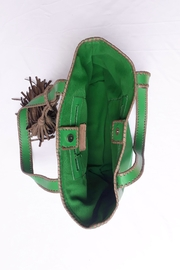 Areias Leather Green Tote Bag - Other