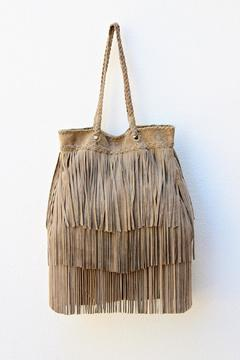 Shoptiques Product: Grey Fringe Bag