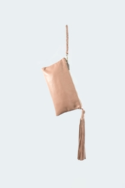 Areias Leather Leather Tassel Clutch - Front cropped