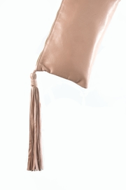 Areias Leather Leather Tassel Clutch - Side cropped