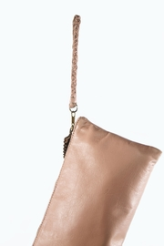 Areias Leather Leather Tassel Clutch - Front full body