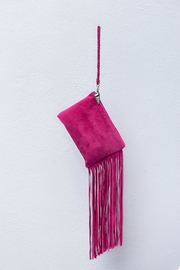 Areias Leather Mexican Pink Mini-Clutch - Front cropped