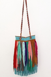 Areias Leather Multicolored Fringes Bag - Front cropped