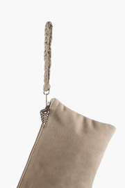 Areias Leather Nude Suede Wristlet - Side cropped