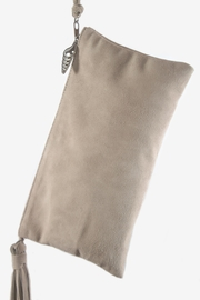 Areias Leather Nude Suede Wristlet - Front full body