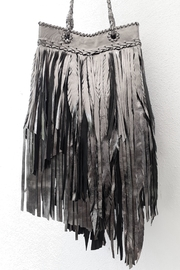 Areias Leather Pewter Fringes Bag - Side cropped