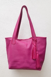 Areias Leather Pink Tote Bag - Product Mini Image