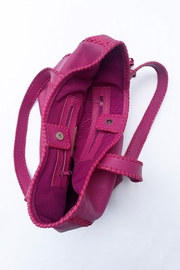 Areias Leather Pink Tote Bag - Other