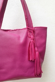Areias Leather Pink Tote Bag - Back cropped