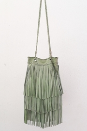 Areias Leather Pistachio Suede Bag - Product Mini Image