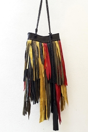 Areias Leather Rasta Fringes Bag - Product Mini Image