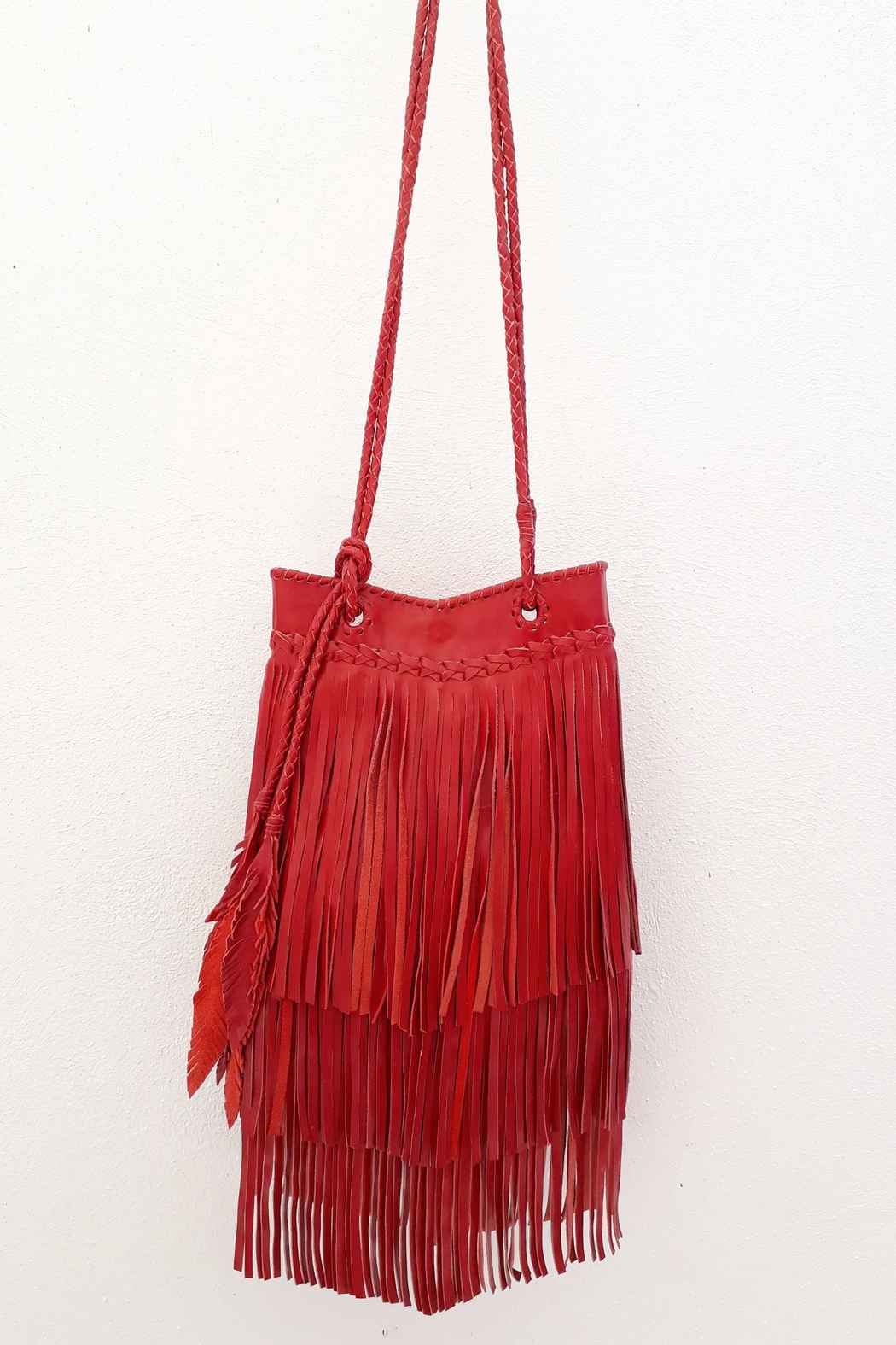 Areias Leather Red Leather Bag - Main Image