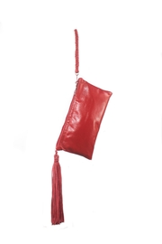 Areias Leather Red Leather Clutch - Front cropped