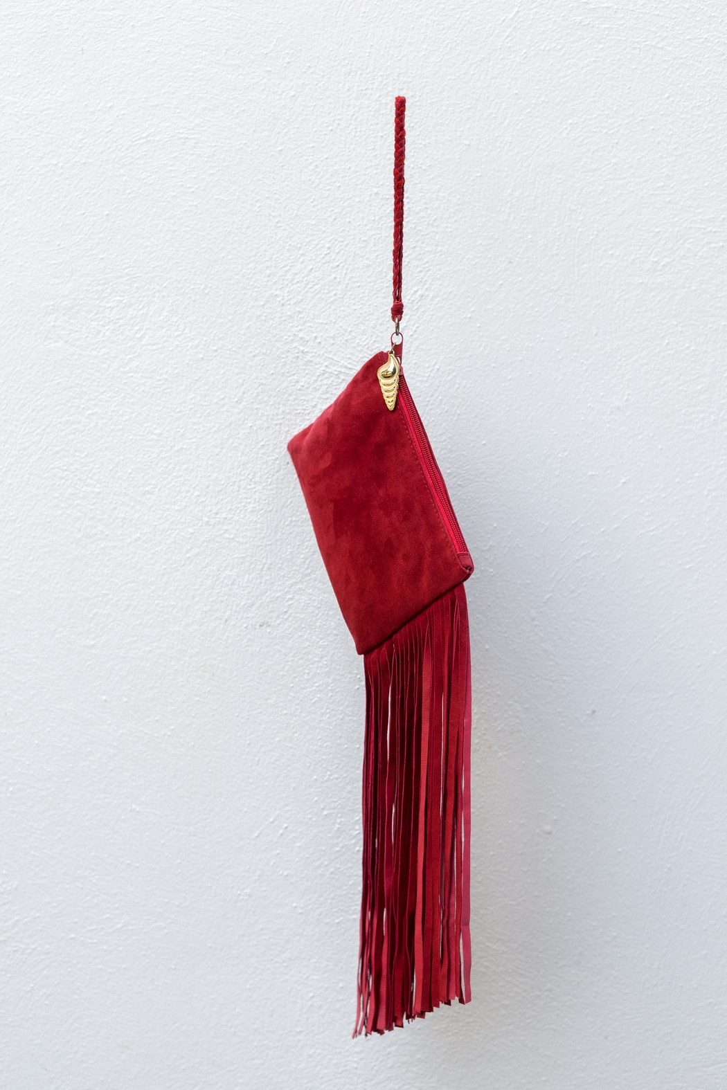 Areias Leather Red Suede Mini-Clutch - Main Image