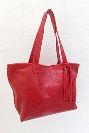 Areias Leather Red Tote Bag - Product Mini Image
