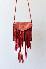 Areias Leather Salmon Crossbody Bag - Product Mini Image