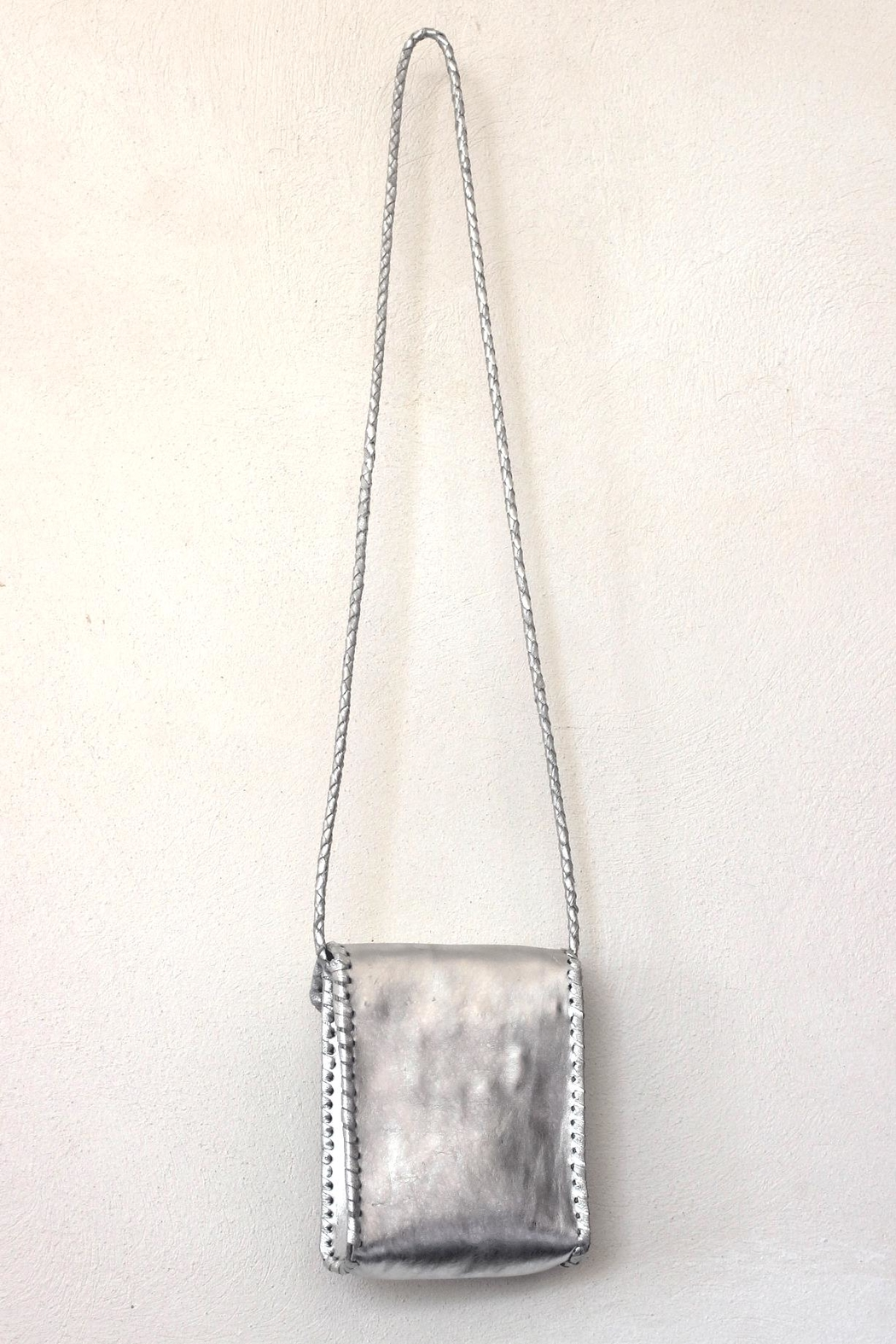 Areias Leather Silver Petit Bag - Front Full Image