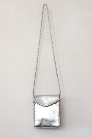 Areias Leather Silver Petit Bag - Front cropped