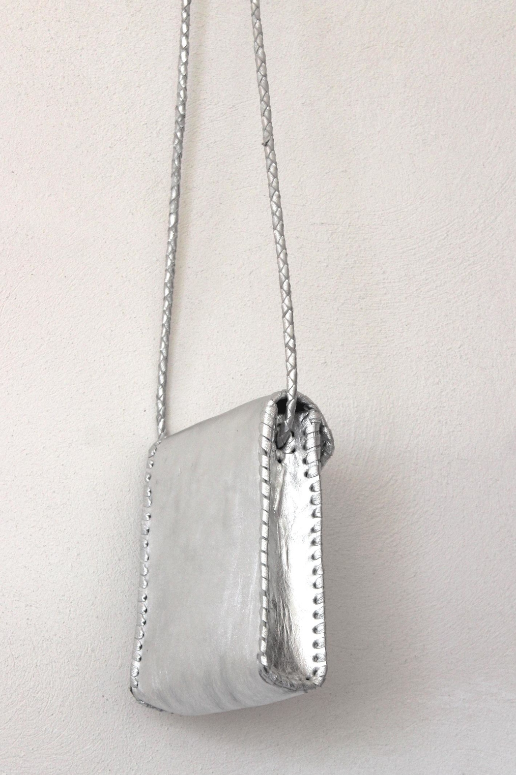 Areias Leather Silver Petit Bag - Side Cropped Image