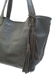 Areias Leather Snake-Print Tote Bag - Side cropped