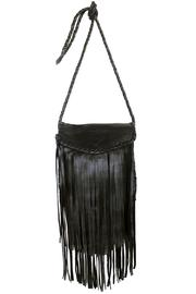 Areias Leather Black Crossbody Bag - Product Mini Image